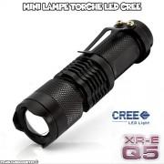 Mini Lampe de Poche LED CREE 360 Lumens, Métal