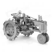 3D de acero inoxidable montado Tractor de juguetes educativos para ninos / ninos - plata antigua