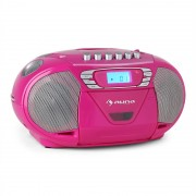 Auna KrissKross recorder de radio portabil CD MP3 USB roz (CS10-KrissKross-Cand)