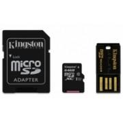 Kingston 64GB Multi Kit / Mobility Kit Class10, incl. Tarjeta microSDHC con Adaptadores SD y USB