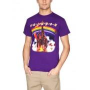 Playlogic International Camiseta de manga corta para hombre, color morado, talla 2xl