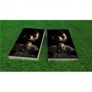 Custom Cornhole Boards Walking Dead Zombies Cornhole Game Set CCB200-2x4-AW / CCB200-2x4-C Bag Fill: All Weather Plastic Resin