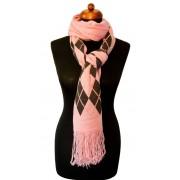 Gebreide sjaal roze