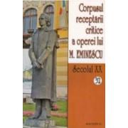 Secolul XX 32+33 Corpusul receptarii critice a operei lui M. Eminescu