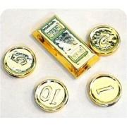 Lego - Gold Chrome Treasure X4 Gold Coins X1 Ingot
