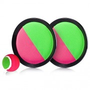 Banne Park Rids Toss and Catch Stick Throwing Sports Game Set for Kids with Grip Mitts Bean Bag Ball