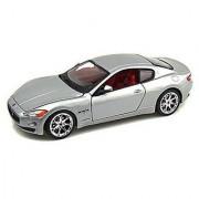 2008 Maserati Gran Turismo Silver - Bburago 22107 - 1/24 scale Diecast Model Toy Car