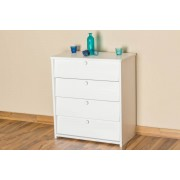 Steiner Shopping Furniture Shoe cabinet solid pine wood, in a white paint finish Junco 221 - Dimensions 80