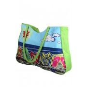 Plážová kabelka zelená