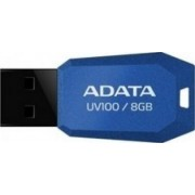 USB Flash Drive ADATA UV100 Slim Bevelled 8GB Blue