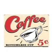 Placa Decorativa em MDF Coffee 5 Centavos Vintage