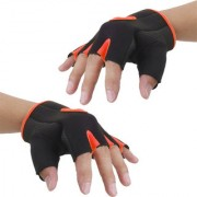 Imported Unisex Breathable Half Finger Bike Bicycle Cycling Riding Gloves Orange L