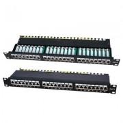 Accesoriu pentru rack: LanKATT Patch Panel cat6 FTP 24 x RJ45 – 1U cu suport de cabluri