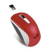 Mouse Genius BlueEye NX-7010, Inalámbrico, 1600DPI, USB, Rojo/Blanco