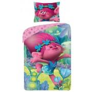 Lenjerie de pat, Trolls, roz, 160x200cm