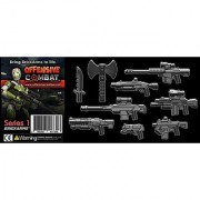 BrickArms 2.5 Scale Weapon Pack Set of all 9 Offensive Combat Series 1 Weapons Black