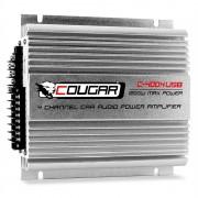 Cougar C400-4 4-канелен Авто усилвател USB MP3 1200W (VI-C.400-4)