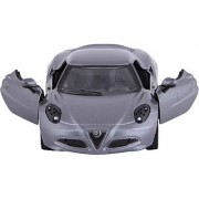 Baby Steps Kinsmart Die-Cast Metal 2013 Alfa Romeo 4C (Grey)