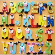 Funny Letters Magnets Colorful Cartoon 26 Capital Letter Magnets