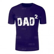 GearBest Dad Printed Crew Neck T-Shirt