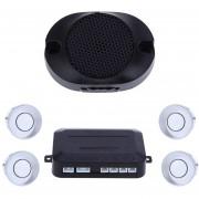Sensores Aparcamiento Coche 4 Sensors Car Parking Monitor System-Plateado
