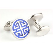 Mousie Bean Enamelled Cufflinks Handsome Salary 140 Blue
