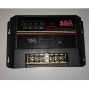 SC12-30A - Контролер за заряд на соларeн панел 30A 12V - соларно зарядно