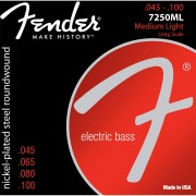 Fender 7250Ml Encordoamento de Aço para Contrabaixo de 4 cordas 0.045