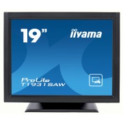 iiyama ProLite PL T1931SAW-B1 19' LED LCD SAW 1280x1024 speakers VGA DVI 230cd/m² 900:1 5ms RS232 & USB int. PSU VESA 100