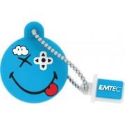 USB Flash Drive Emtec Smiley World Game Geek USB 2.0 8GB Albastru