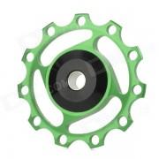 BB-87 de aleacion de aluminio de bicicletas Rear Derailleur Pulley - Green