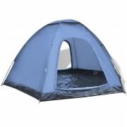 vidaXL Шестместна палатка, синя