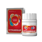 Vitamegas jovens e adultos suplemento vitaminico 30cáps - Theralab