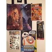 Star Wars Gift Bundle Tote Bag Jumbo Coloring & Activity Book Play Pack Grab & Go Crayons Tattoos 6 Pack Pencils