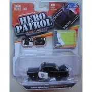 JADA HERO PATROL WAVE 7 2014 RELEASE 1:64 SCALE BLACK 1956 CALIFORNIA HIGHWAY PATROL CHEVY BEL AIR DIE-CAST