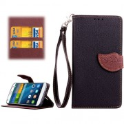 Leaf Magnetic Snap Litchi Texture Horizontal Flip Leather Case with Card Slots & Wallet & Holder & Lanyard for Huawei Ascend G7(Black)
