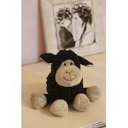Jomanda Small Black Sitting Sheep (Petit Mouton noir assis Jomanda)