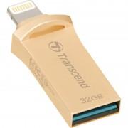 USB DRIVE, 32GB, Transcend JetDrive Go 500, Lightning&USB3.1, Gold Plating (TS32GJDG500G)