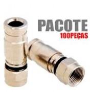 Pacote com 100 pçs de Conector de Compressão RG6