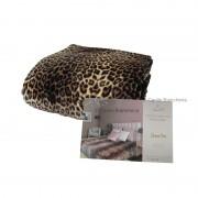 Plaid coperta Leopardata SUPER SOFT Caldissima matrimoniale 220x240 cm D443