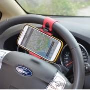 Držák na telefon do auta na volant horizontální, Barva Červená