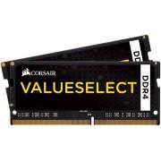 Memorie Laptop Corsair ValueSelect SODIMM, DDR4, 2x8GB, 2133MHz, CL15