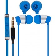 Mobile Link Yu Yunicorn Compatible In-ear Flat Wired Headphone/Earphone/Stereo Headphone (Blue) with High Quality Sound/Deep Bass 3.5MM Jack