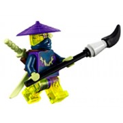 LEGO® Ninjago: Cowler Ghost Ninja Warrior Minifigure with Swords and Spear