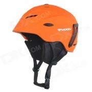 MOON MS-92 Outdoor Cycling One-Piece PC + EPS Bike Helmet - Orange + Black (M)