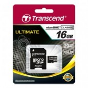 MicroSDHC 16GB Class 10 with SD Adapter TS16GUSDHC10