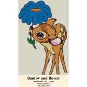 Bamby and flower (kit goblen)