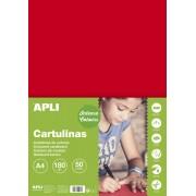 Kreslicí karton APLI A4/180gr/50lis červená