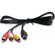 Cablu video; RCA M la mini-DIN 4pini M; 1m