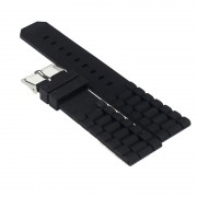 Milk Hot relogio masculino New Fashion Mens Black Silicone Rubber Diver Watch Band Strap For Fossil Nate 17mar25